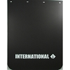 International Truck Mud Flaps 24 x 30 Black Polyurethane White Lettering, Pair