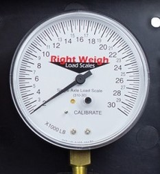 Right Weigh Load Scales, 310-30-GO 30K Pounds Gauge Only