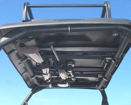 The QD850OGR fits UTV's which have upper (roof) frames that measure 23 to 28 inches from front to back.